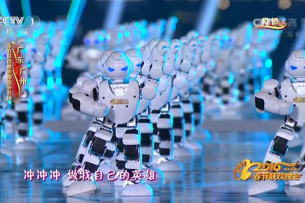 Robots dance during a performance on CCTV's lunar new year gala 2016. Credit: CCTV/IDGNS