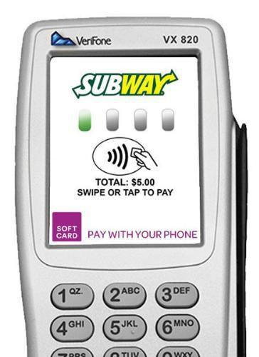 Subway will accept NFC payments with Softcard from October 1, 2014.