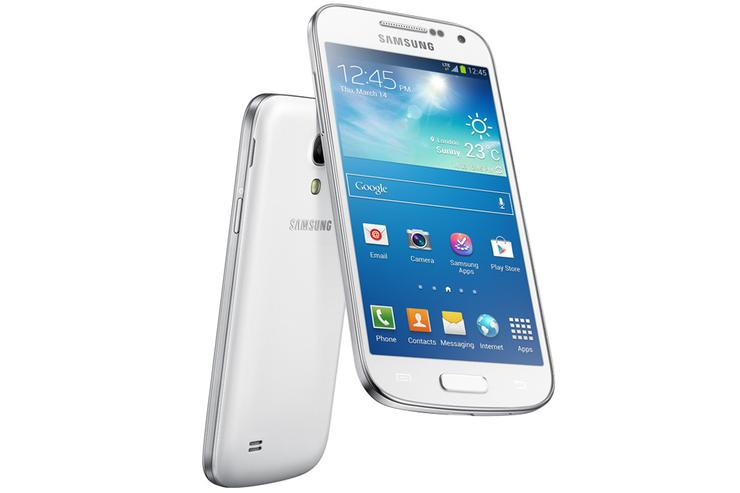The Samsung Galaxy S4 Mini Android smartphone.