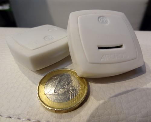 Part of the Archos smart home range, the Weathertag reports temperature and humidity over a Bluetooth LE connection, while the Motiontag will report if it is moved.
