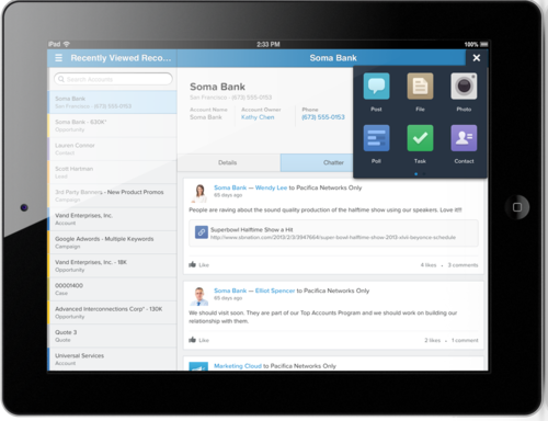Salesforce.com is rolling out version four of its Chatter mobile application for social networking.