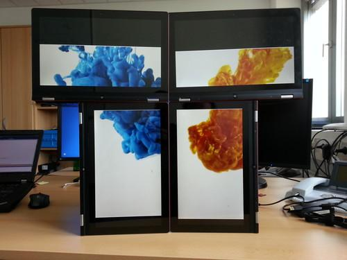 Intel's Display as a Service technology lets several screens act as one