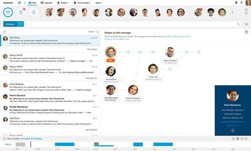IBM's new e-mail client Verse is able to provide more information about all the participants in a group e-mail