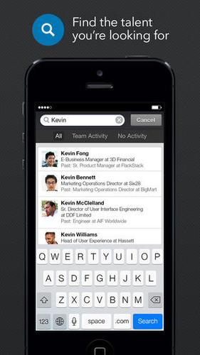 LinkedIn's new Recruiter mobile app.