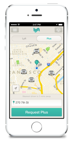Lyft offers a new premium service through its existing mobile app.