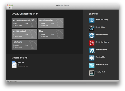 The new look for MySQL Workbench