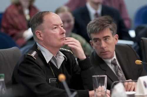 General Keith Alexander (left) at a recent hearing.