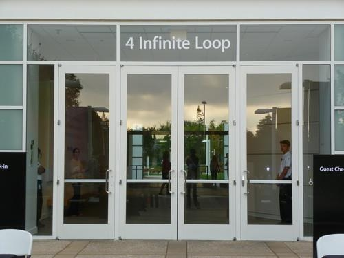 Apple's Cupertino campus ahead of a media event where the company is expected to announce at least one new iPhone