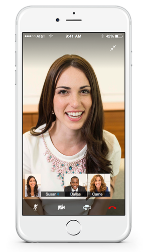 Cisco's Project Squared mobile collaboration app lets users communicate via text chat, audio and video, hold multi-party meetings and share content