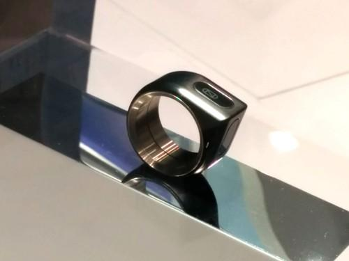 Japanese startup company 16Lab showed off a gesture-control ring at Ceatec 2014 outside Tokyo on Tuesday. It can be used as a game controller, alert tool and e-wallet.