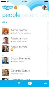 Microsoft is shipping an overhauled Skype app for the iPhone