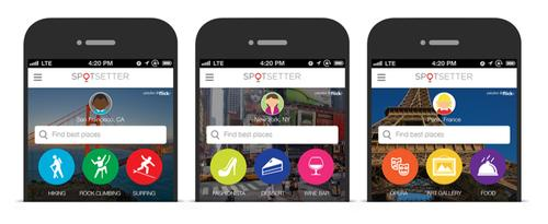 Spotsetter's app provided recommendations based on people's social networks.