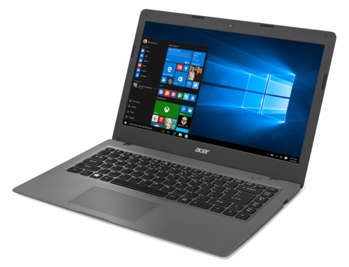 The Acer Aspire Cloudbook One comes in 11-inch and 14-inch versions. This is the 14-inch version.