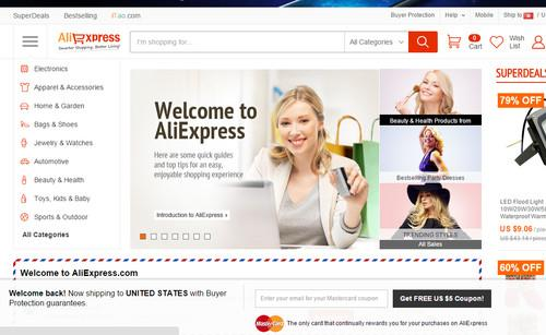 Alibaba Group's AliExpress site.
