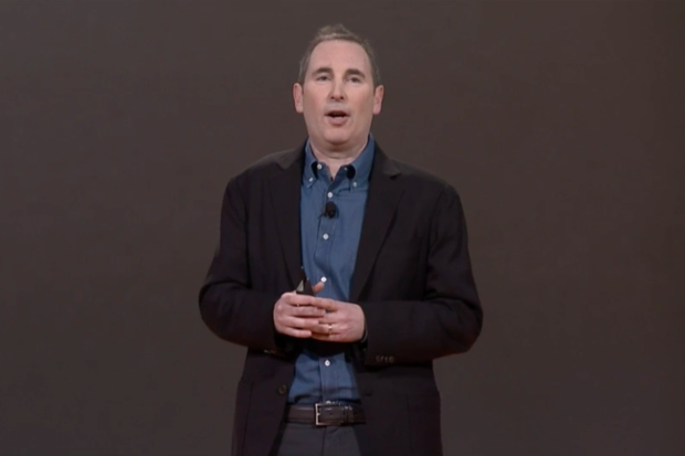 AWS chief Andy Jassy unveils AWS's new services at the company's Re:Invent conference in Las Vegas on October 7, 2015. Credit: Amazon
