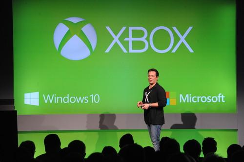 Phil Spencer, head of Xbox at Microsoft, addresses an audience at the 2015 Game Developers Conference (GDC) in San Francisco, where Microsoft announced it is making an SDK available for Xbox One developers.