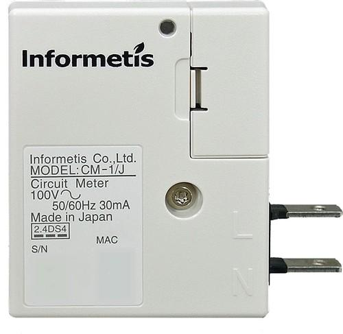 A sensor developed by Sony spinoff company Informetis gathers data for home electricity monitoring. Cloud-based machine learning algorithms crunch the data to chart how much juice major appliances are using, and the results are sent to a mobile app.