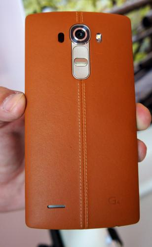 The LG G4 has a leather-covered back.