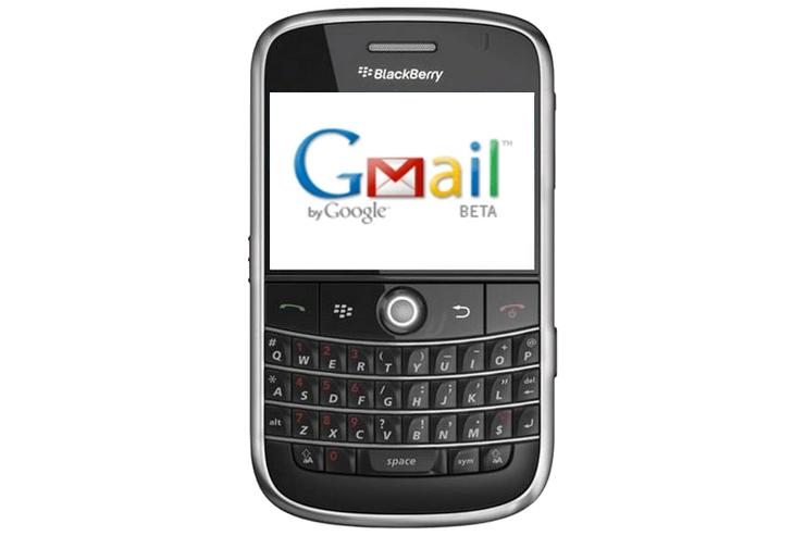 Google's Gmail now available on the Blackberry