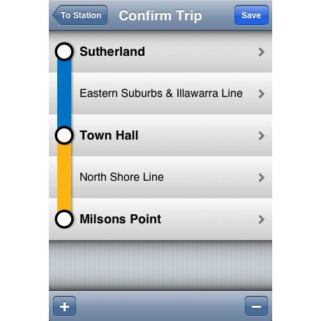 The TripView iPhone app.