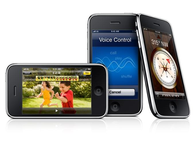 The iPhone 3GS adds voice recognition and more applications