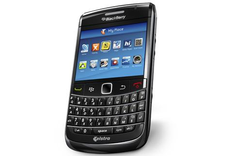 Telstra is the first carrier in Australia to release the BlackBerry Bold 9700 smartphone.