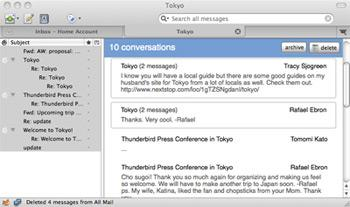 Mozilla Thunderbird 3 now has message archiving