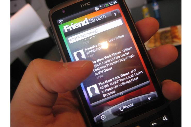 HTC's Desire includes a feature called HTC Friend Stream, combining contacts from multiple social networks including Facebook, Twitter and Flickr.