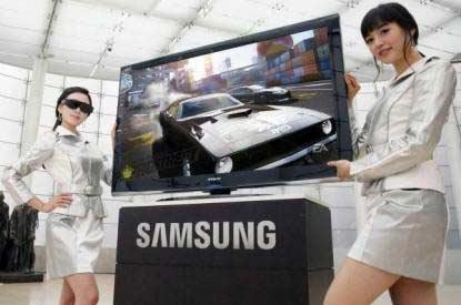 Samsung's Series 7 LED model is the first 3D-capable television available.