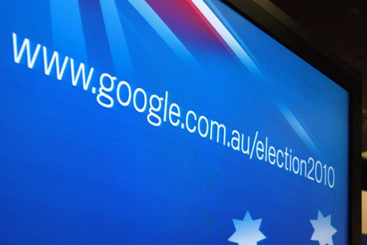 The Google Student Voice 2010 Web site was launched alongside Google's 2010 Federal Election Web site, which shows voters search trends for Australian election terms and information on electoral candidates and polling booth locations.