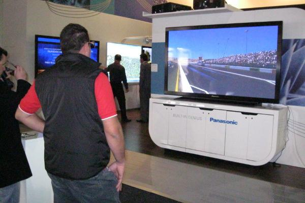 This Panasonic TH-85VX200 was displaying a range of 3D content at the 2010 Integrate exhibition.