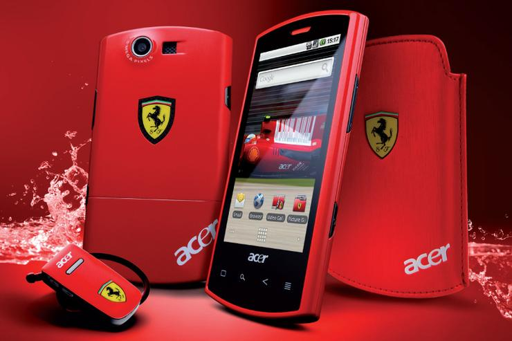 Acer's Liquid E Ferrari Special Edition is one of five new Android-powered smartphones launched by the Taiwanese manufacturer.
