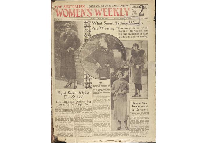 The cover of the first issue of Australian Women's Weekly. Image: National Library of Australia.