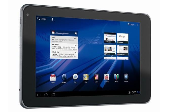 The LG G-Slate Android tablet