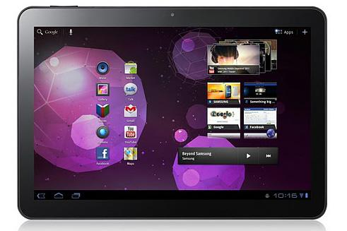 The Samsung Galaxy Tab 10.1v Android tablet