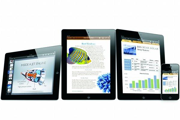 The iWork suite on iOS.