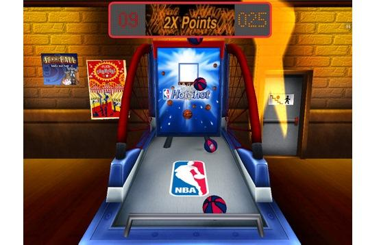 NBA Hotshot HD for iPad: pick 'em up and shoot 'em.