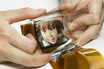 A flexible OLED screen