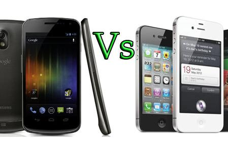 Samsung Galaxy Nexus vs. Apple iPhone 4S: Fight!