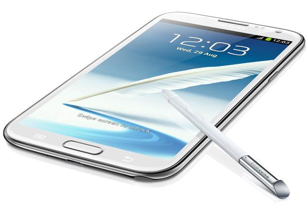 The Samsung Galaxy Note II.