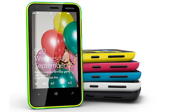 The Nokia Lumia 620.