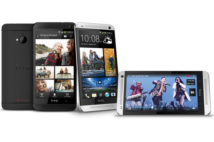 The HTC One Android phone.