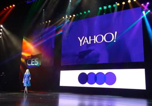 Yahoo CEO Marissa Mayer takes the stage at CES