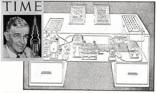 "DARPA's crime-fighting Memex program gets its name and inspiration from a hypothetical device described in ""As We May Think,"" a 1945 article for The Atlantic Monthly."