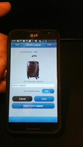 AT&T's luggage tracking app