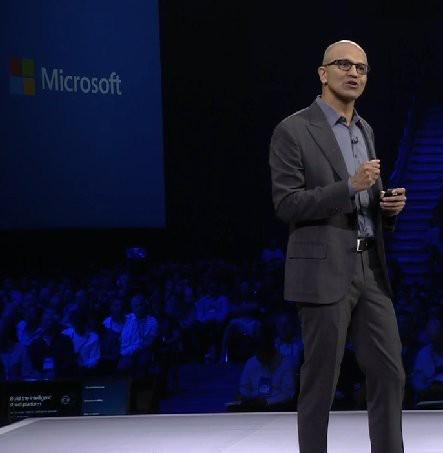 Satya Nadella, speaking at the 2015 Microsoft Partner Conference, Orlando, Florida