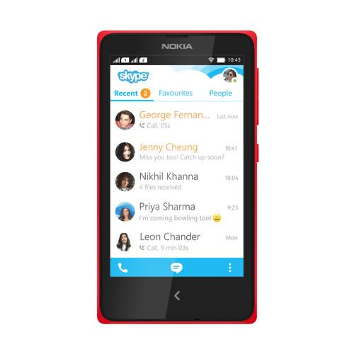 The Nokia X comes with Skype and a number other Microsoft services.