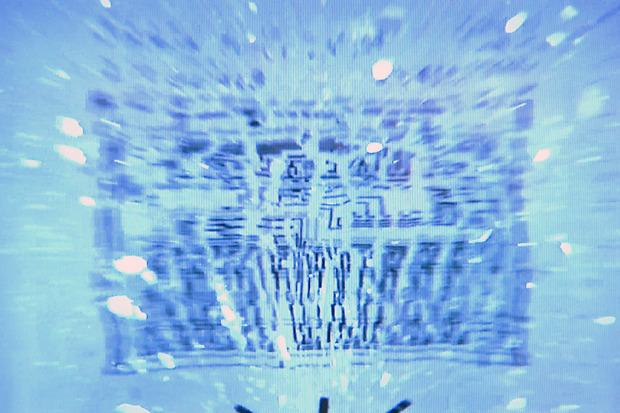 A chip fabricated on glass is seen exploding during a slow-motion video provided by Xerox PARC Credit: Xerox PARC