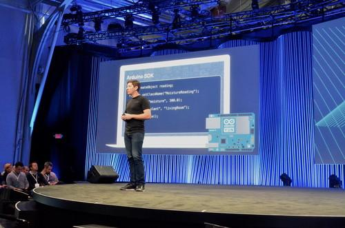 Parse CEO Ilya Sukhar, speaking during Facebook's F8 conference on March 25, 2015.