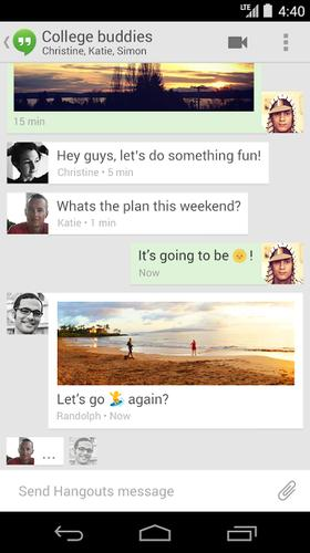 Hangouts 2.1 for Android